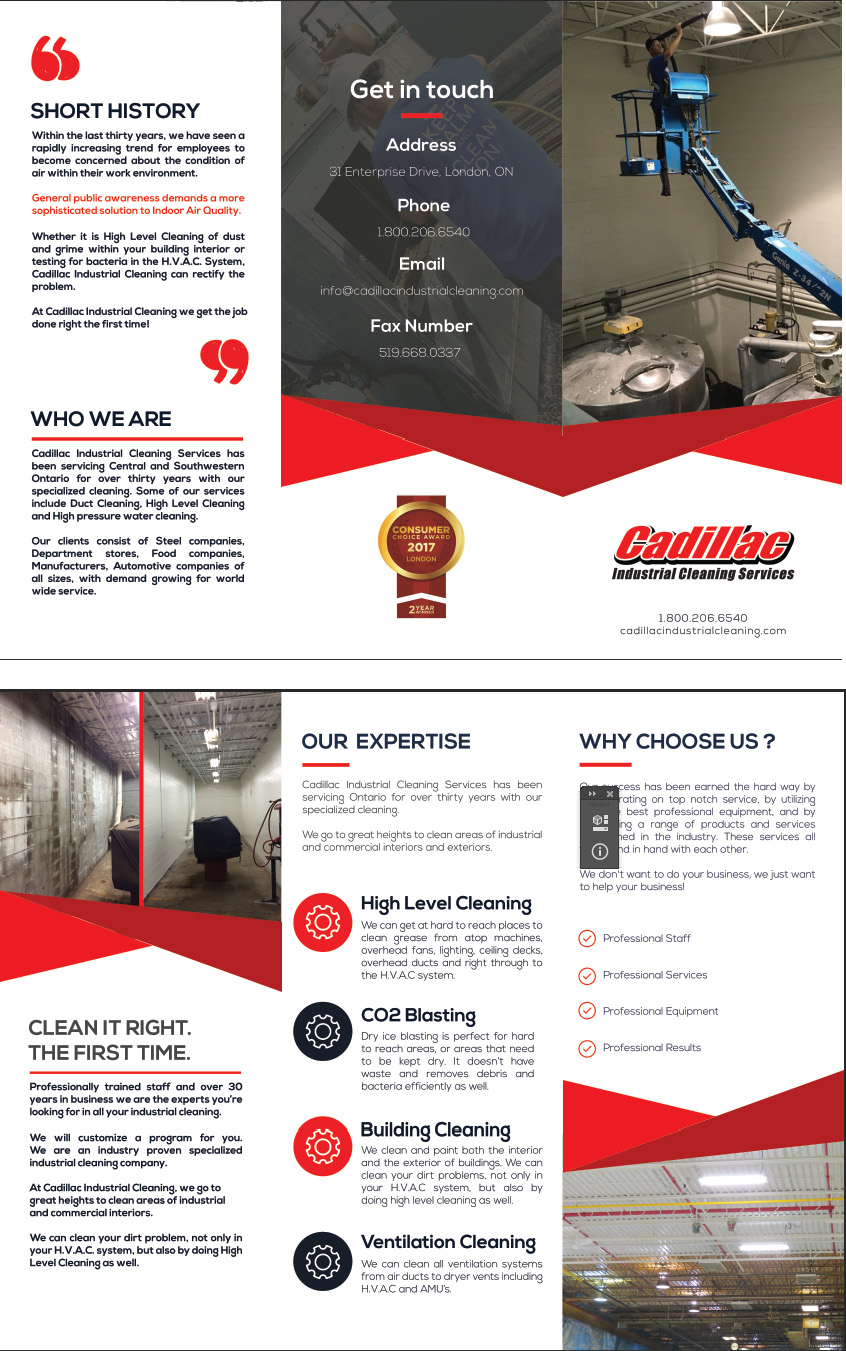 cadillac industrial cleaning services inc industrial cleaning an overview of our industrial cleaning services view or print our brochure to learn more about what we do